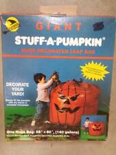 VTG 1989 HALLOWEEN GIANT Stuff A Pumpkin Leaf Bag 140 Gallon Biodegradeable