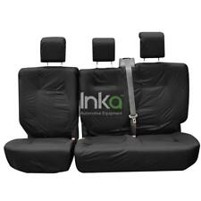 Land Rover Defender Crew Cab Rear Inka Tailored Waterproof Seat Cover Black 0515