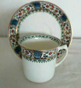 4 x Vintage Art Nouveau Sutherland Art China Tea/Coffee Cups and Saucers