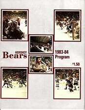 1983-1984 Vintage Hershey Bears Program