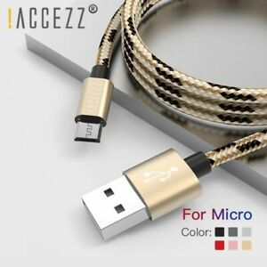 Fast Nylon USB Charging Sync Cable Micro SamsungS7 S6 Huawei For Xiaomi Redmi