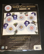 Dimensions Gold Collection Snowflake Elegance Ornaments Missing Beads Cording