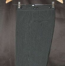 Mens 28x33.5 Flat Front Vintage Cutaway Morning Hickory pants Victorian Dickens