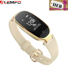 Gold Waterproof Activity Tracker Fitness Heart Rate Pedometer Lady Smart Watch