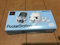 Sony PocketStation PlayStation PS Crystal SCPH-4000 BOX and Manual Japan PS54