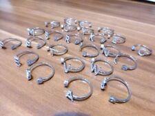 Anelli di lusso trasparenti argento sterling , Purezza metallo 925 parti su 1000