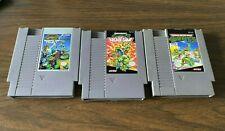 Lot NES TMNT Teenage Mutant Ninja Turtles I  II 3 2 Arcade Game Manhattan Tested