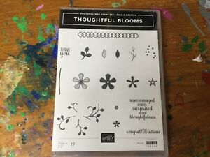 STAMPIN' UP New Acrylic Stamp set THOUGHTFUL BLOOMS