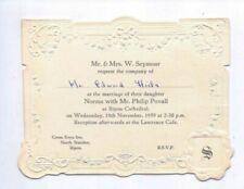 1959 Invitation to the Wedding of Jockey Philip Povall, ex Edward Hide