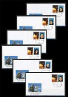 ISRAEL STAMPS 2013 COLUMBIA SPACE SHUTTLE TRAGEDY 10 YEARS USA ASTRONAUTS  6 FDC
