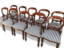 Magnificent set 10 beautiful Victorian style Balloon back chairs French polished