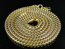 New Men's Yellow Stainless Steel Franco Snake Chain 36 Inch 5mm Necklace