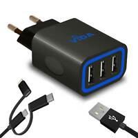 Super Rapide Multi Port USB Chargeur Secteur Murale 5V avec Câble Pour Téléphone