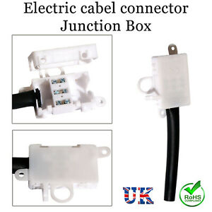 AC-250V Junction Box IP44 Waterproof Electrical Cable 3 Pin Wire Connector 10A