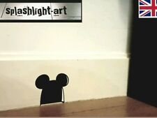 4x Mickey Mouse ears mouse hole vinyl sticker. Disney decoration decal funny