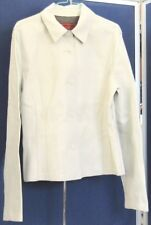 NWOT Butter Soft COLE HAAN STUDIO Beautifully Fitted LEATHER JACKET White USA 10