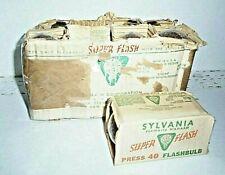EIGHT Vintage Sylvania (Wabash) Super Flash Press 40 Flashbulbs in Sleeves