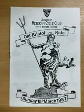 """1987 SOUTHERN VETERAN CYCLE CLUB """"OLD BRISTOL RIDE"""" GUIDE ILLUSTRATED PAMPHLET"""
