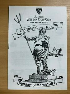 "1987 SOUTHERN VETERAN CYCLE CLUB ""OLD BRISTOL RIDE"" GUIDE ILLUSTRATED PAMPHLET"
