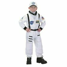 Aeromax Jr. Astronaut Suit 100 Polyester Cap and NASA Patches White Size 3