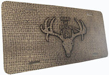 License Plate Bag R Buck Burlap