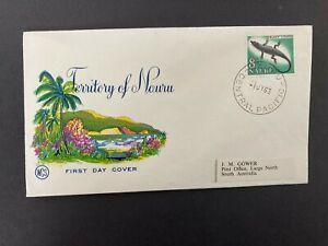 Postal History Nauru 1963 FDC with NAURU CENTRAL PACIFIC Cancellation