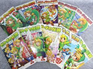 LEGEND OF ZELDA Manga Comic Set Lot of 10 Book AKIRA HIMEKAWA SG