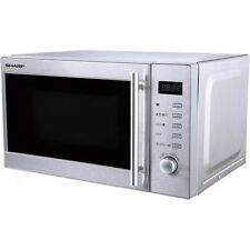 Sharp R-20STW Edelstahl Elektro Mikrowelle 20 l Garraum 800 W 5 Leistungsstufen