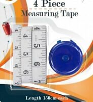 4 Piece Measuring Tape Assorted Sized & Retractable Measuring Tape