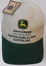 NEW JOHN DEERE FARM TRACTORS TRACTOR CLINTON MISSOURI MO Advertising Hat Cap