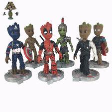 Baby Groot Cosplay Deadpool Captain America Hulk Resin Figure Statue TOYS 10''