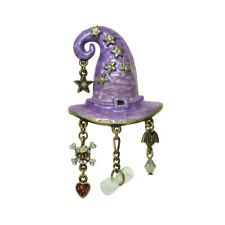 Kirks Folly Stella Magic Charm Witch Hat Pin Pendant Brasstone Halloween Charms