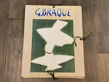 Vintage 1957 French Georges Braque Limited Edition Espaces Lithograph Portfolio
