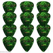 12 PÚAS FENDER guitarra, Bajo 12 Guitar picks puas Celuloid