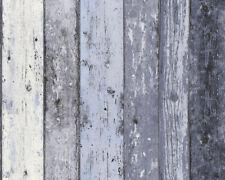 Mixed Blues blu carta da parati effetto legno con effetto invecchiato in legno grano Surf HUT vinile