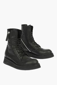CINZIA ARAIA women Boots BEREK Combat Boots Zip Lace Up Platform Black 38 (Sh...