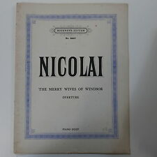 Piano 4 manos Duet Nicolai Merry esposas de Windsor obertura,