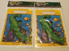 2 packs 16 bags Marvel Incredible Hulk Birthday Treat Sacks Party Favor Hallmark