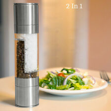 Silver Stainless Steel Automatic Electric Salt Pepper Mill Grinder Grinding Tool