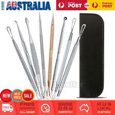 8 Pcs Set Blackhead Acne Blemish Comedone Pimple Extractor Remover Tool Kit Box