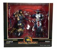 McFarlane Toys Mortal Kombat Twin Action Figure Pack Scorpion & Raiden Brand New