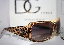 DG Eyewear Sunglasses Yellow with Brown Spots Women's Ladies Fashion Shades New