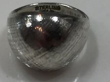 925 Sterling Silver Designer Dome Ring Size 7