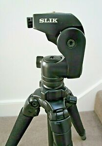 SLIK Pro 700DX Tripod and Pan Head with Carry Case and Instructions - Immaculate