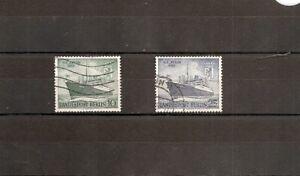 Germany-West Berlin 1955 SG B123-4 2v NH/Used Liner Berlin-ex Gripsholm 1925