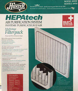 Hunter 30920 HEPAtech Replacement Air Purifier Filter - White