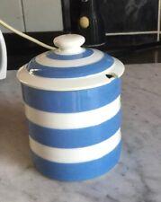 VINTAGE T G GREEN Jam/ Preserve Pot CORNISHWARE BLUE STRIPE