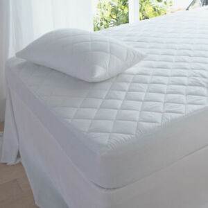 Quilted Mattress Topper Protector Extra Deep Fitted Cover Single Double King Sup