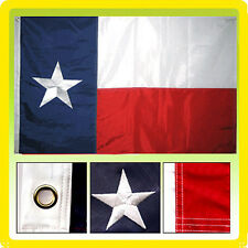 3x5 Ft Deluxe TEXAS Embroidered TX American Nylon Lone Stars USA Flag