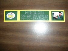 PATRICK REED (MASTERS CHAMP) NAMEPLATE FOR SIGNED BALL DISPLAY/PHOTO DISPLAY